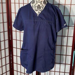Grey's Anatomy navy scrub top